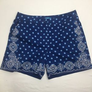 J. McLaughlin Blue Print Shorts (4)
